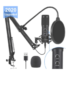image of Bonke condenser microphone- Top 2 Cheap Microphones For Podcast Streaming YouTube Or voiceover
