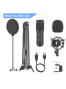 -image of Bonke condenser microphone- Top 2 Cheap Microphones For Podcast Streaming YouTube Or voiceover