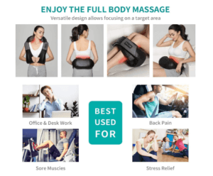 Neck And Back Massager Deep Tissue Kneading