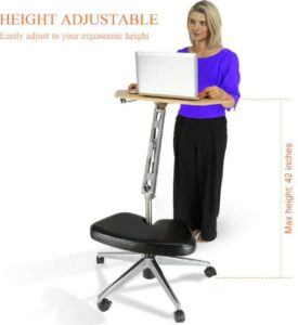 RoomyRoc Mobile Laptop Desk Cart Stand With Tabletop